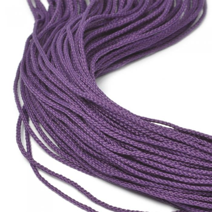 Шнур для мокасин, 1с-16, 1.5мм, цв. лиловый
