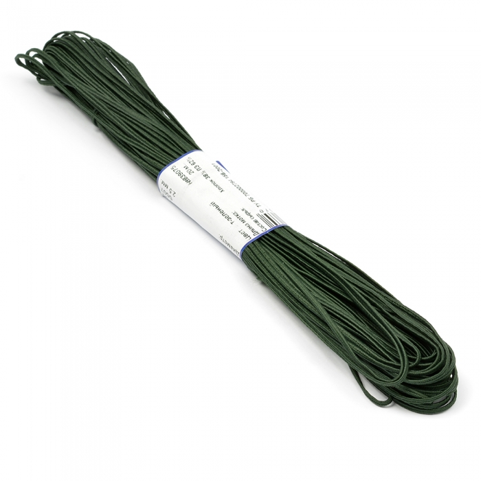 """Шнур отделочный 1с14 """"Сутаж"""" 2,5-3мм цв.т.зеленый уп.20м"""