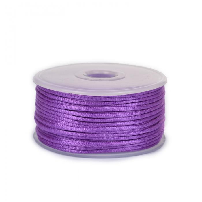 Шнур TBY атласный круглый 2мм цв.3118 фиолетовый уп.50м