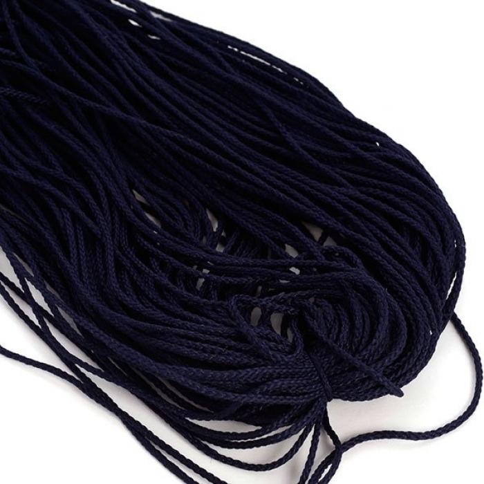 Шнур для мокасин, 1с-16, 1.5мм, цв. т.синий