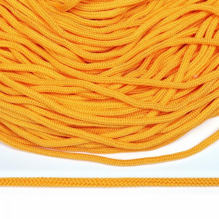 Шнур круглый полиэфир 04мм арт. 1с-36 цв.009 желтый уп.200м