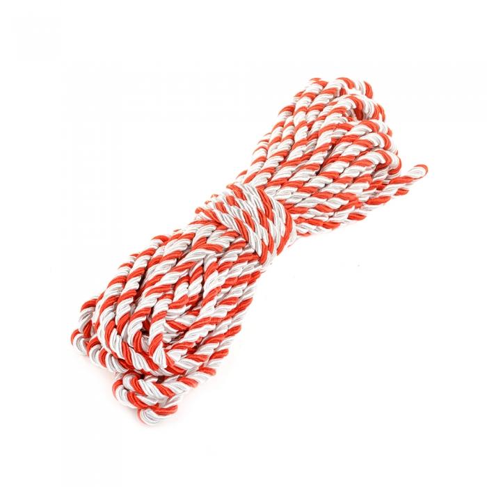 Шнур витой мебельный арт.SHDV333 5мм уп.10м белый/красный