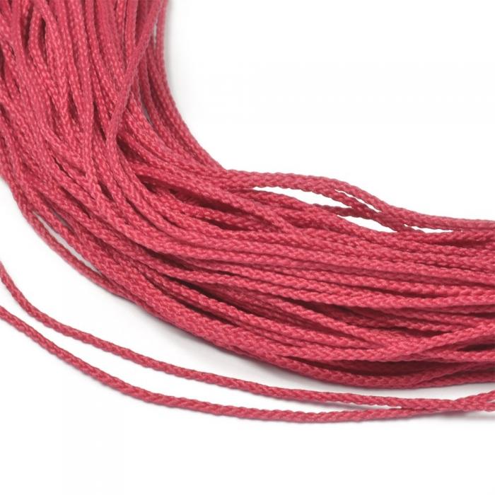 Шнур для мокасин, 1с-16, 1.5мм, цв. малиновый