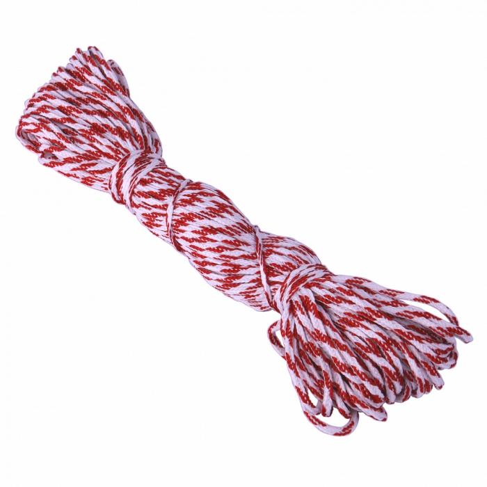 Шнур круглый полиэфир 02мм арт.С3829Г17 рис.9544 цв.бело-красный уп.20м х 3шт