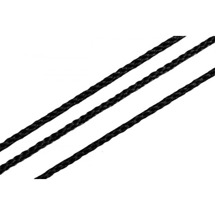 Шнур для мокасин, 1с-16, 1.5мм, цв. черный