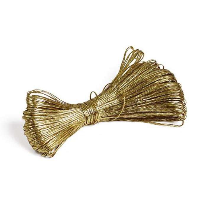 Шнур отделочный декоративный арт. С2736Г17 1-1,5мм цв.02 золото уп.50м