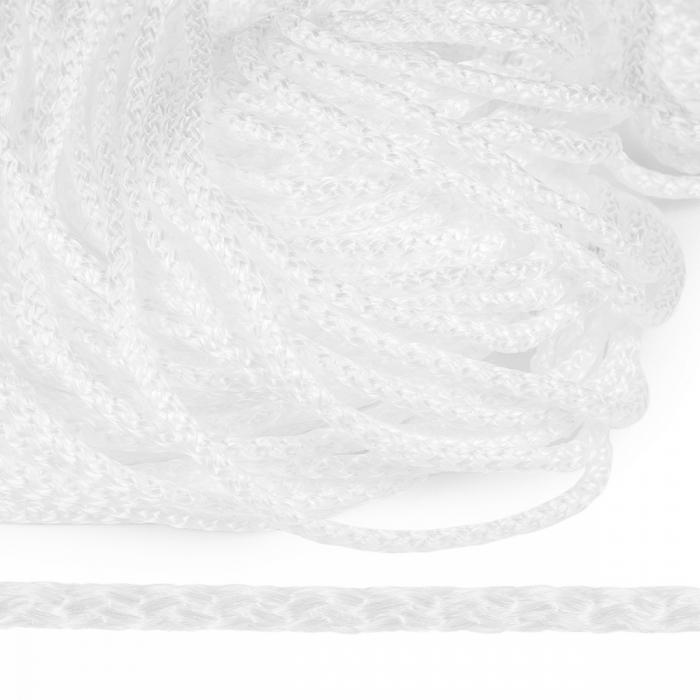 Шнур полипропилен пп6 для люверсов пикколо 6мм цв.белый уп.100м