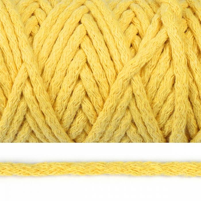 Шнур круглый х/б 05мм цв.026И желтый уп.50м