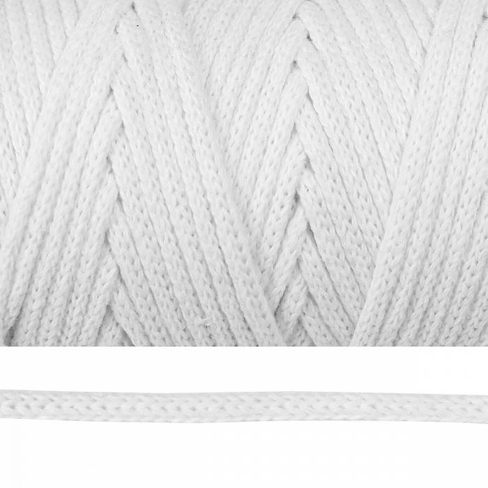 Шнур круглый х/б 04мм цв.белый уп.100м