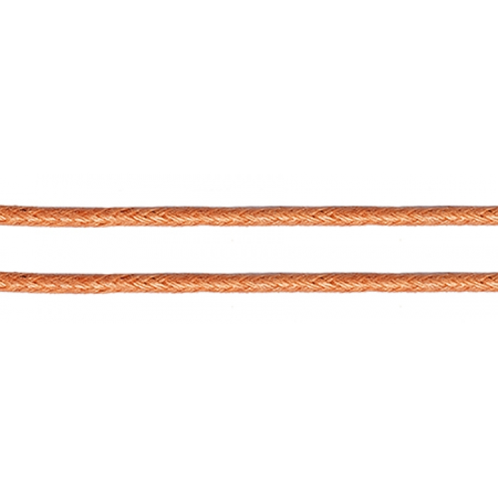 Шнур вощеный 1мм, 100% хлопок цв. 155 т.розовый уп.100м