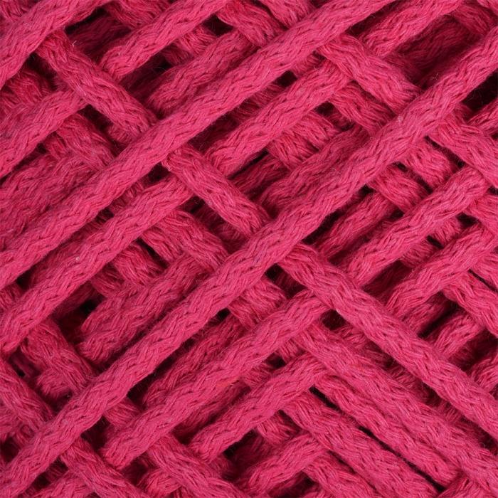 Шнур для макраме круглый х/б 06мм 60184/200 цв.4 ярк.розовый уп.200м