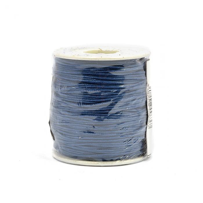 Шнур вощеный 2мм, 100% хлопок цв. 223 т.синий уп.100м