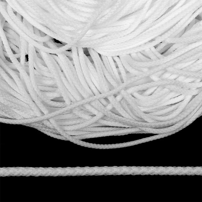 Шнур круглый полиэфир 04мм арт. 1с-35 цв.301 белый уп.200м