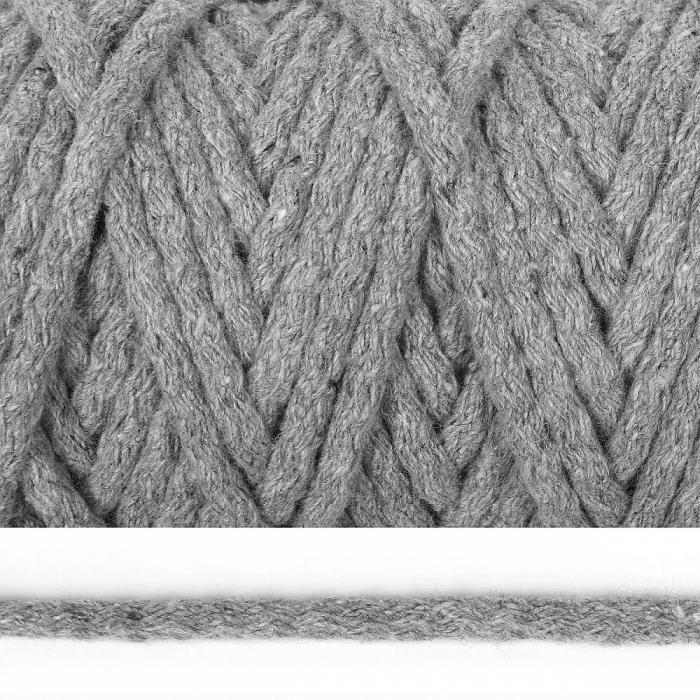 Шнур круглый х/б 05мм цв.2065К св.серый уп.50м