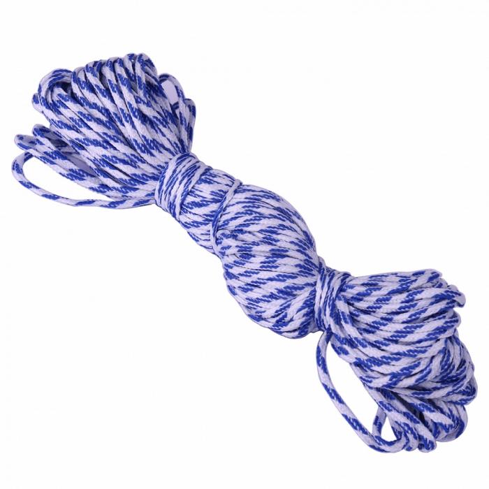 Шнур круглый полиэфир 02мм арт.С3829Г17 рис.9544 цв.бело-синий уп.20м х 3шт