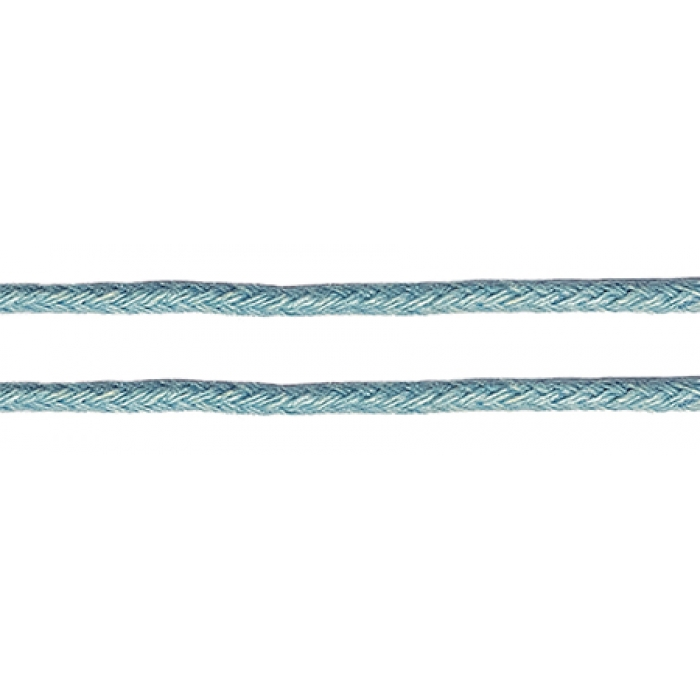 Шнур вощеный 2мм, 100% хлопок цв. 168 голубой уп.100м