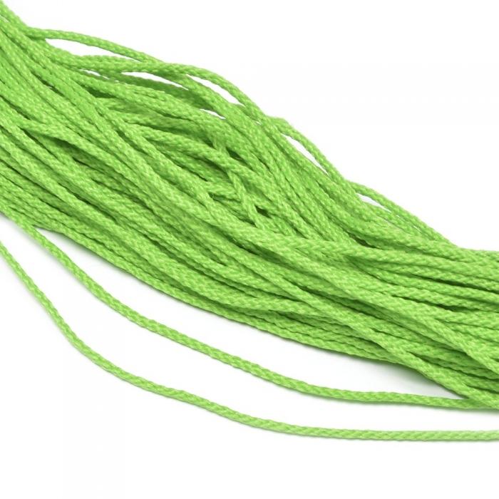 Шнур для мокасин, 1с-16, 1.5мм, цв. ярк.салатовый уп.200м