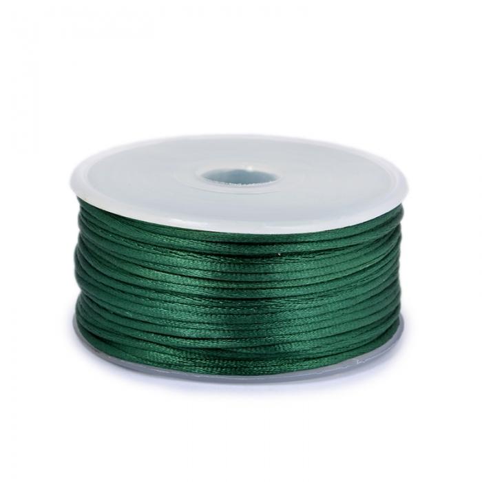 Шнур TBY атласный круглый 2мм цв.3047 т.зеленый уп.50м