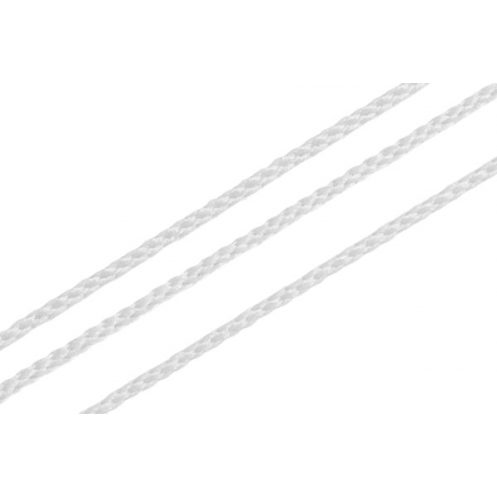 Шнур для мокасин, 1с-16, 1.5мм, цв. белый 100м