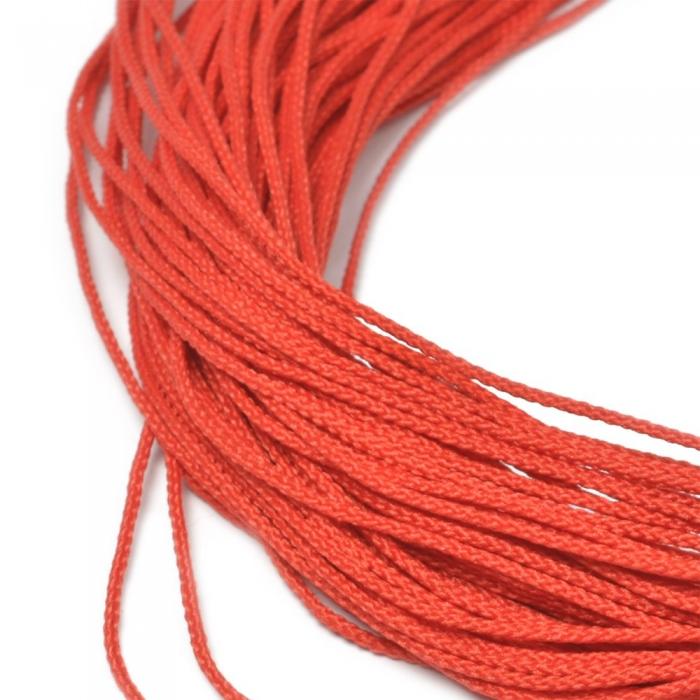 Шнур для мокасин, 1с-16, 1.5мм, цв. красный