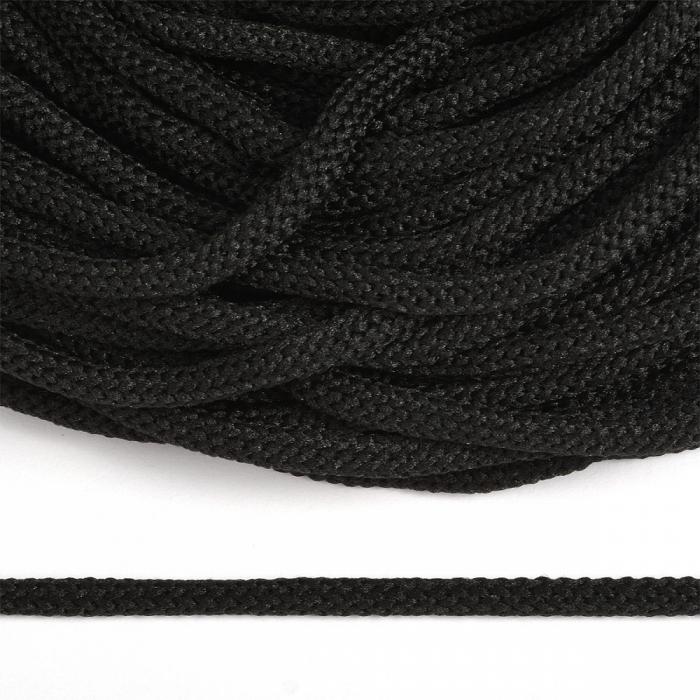 Шнур круглый полиэфир 04мм арт. 1с-35 цв.325 черный уп.200м