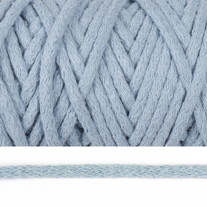 Шнур круглый х/б 05мм цв.2106 голубой уп.50м