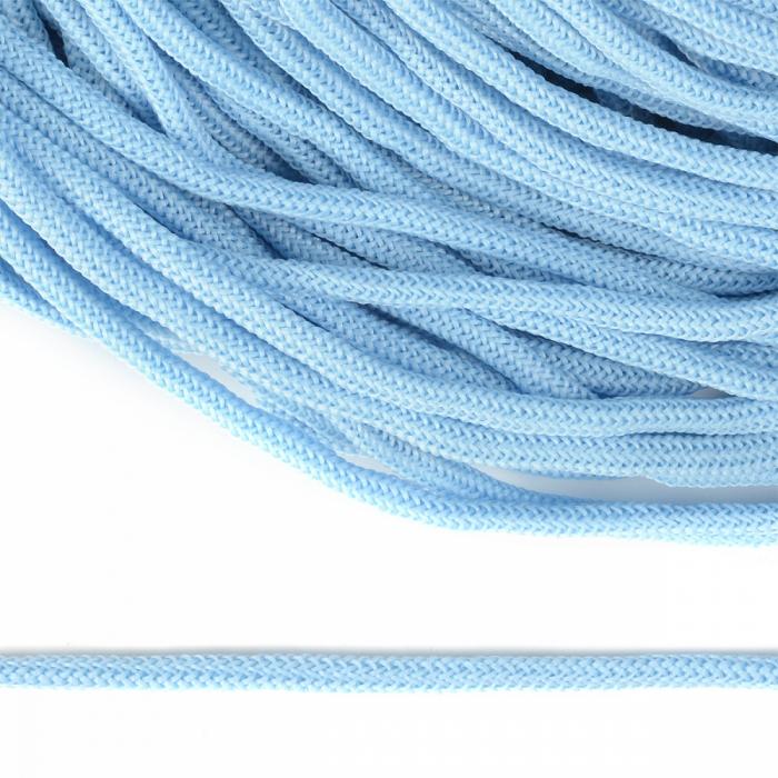 Шнур круглый полиэфир 04мм арт. 1с-36 цв.004 голубой уп.200м