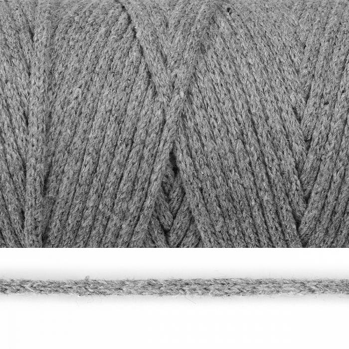 Шнур круглый х/б 04мм цв.2065К св.серый уп.100м