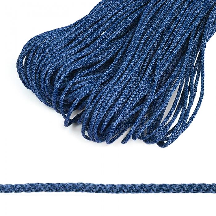 Шнур круглый полипропилен 04мм цв.синий уп.100м