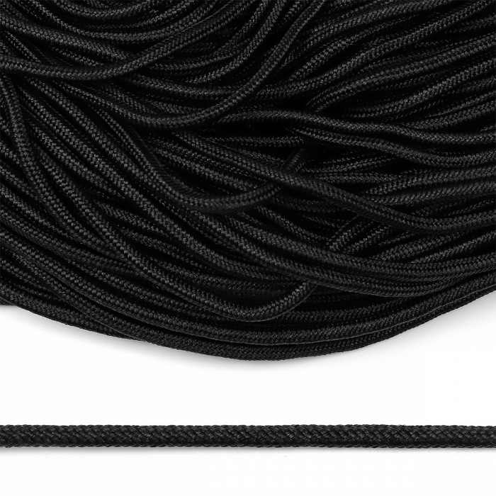 Шнур круглый полипропилен 05мм арт. 1с-5 плетёный цв.черный уп.100м