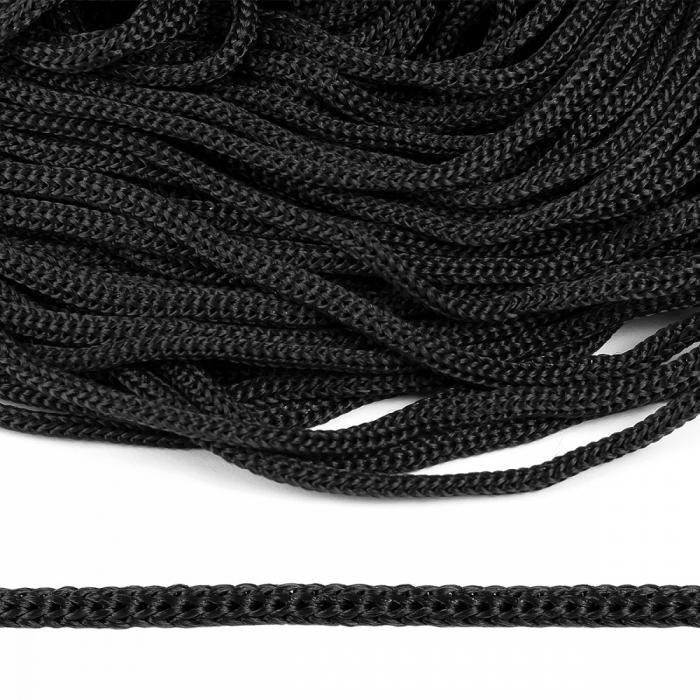 Шнур полипропилен пп5 для люверсов пикколо 5мм цв.черный уп.100м