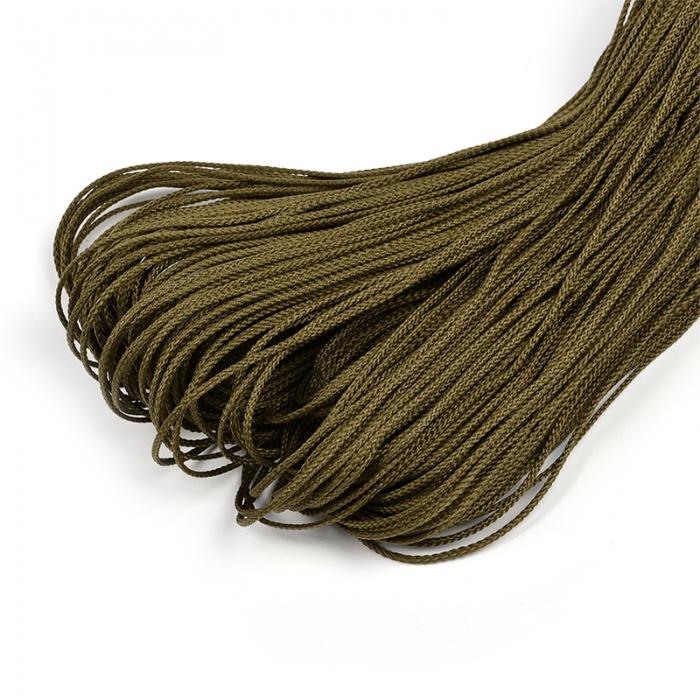 Шнур для мокасин, 1с-16, 1.5мм, цв. хаки