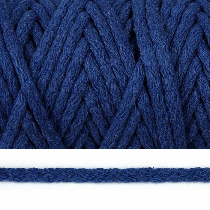 Шнур круглый х/б 05мм цв.2053К синий уп.50м