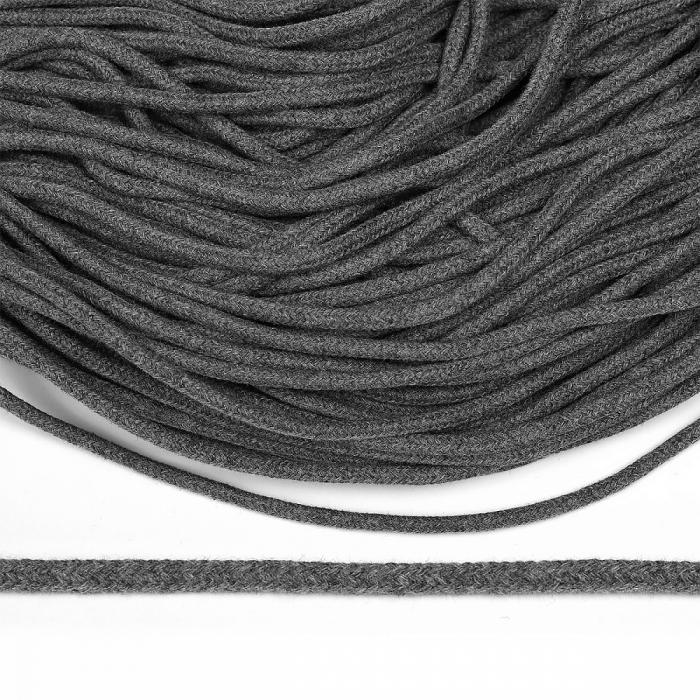 Шнур круглый х/б 05мм с наполнителем TW цв.029 серый уп.100 м