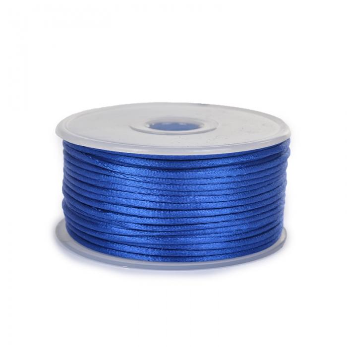 Шнур TBY атласный круглый 2мм цв.3162 синий уп.50м