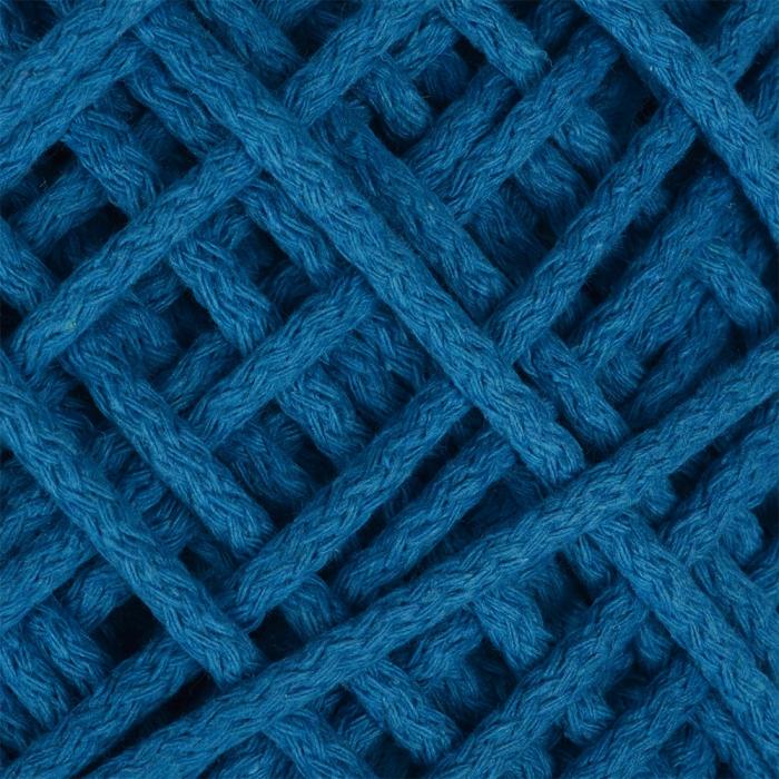 Шнур для макраме круглый х/б 06мм 60184/200 цв.1 бирюзовый уп.200м
