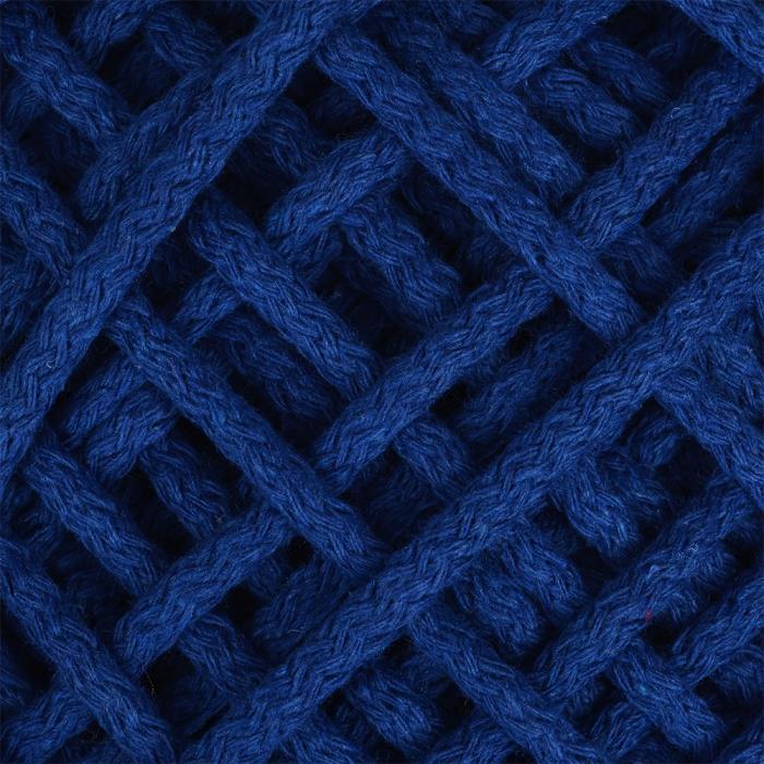 Шнур для макраме круглый х/б 06мм 60184/200 цв.3 синий уп.200м