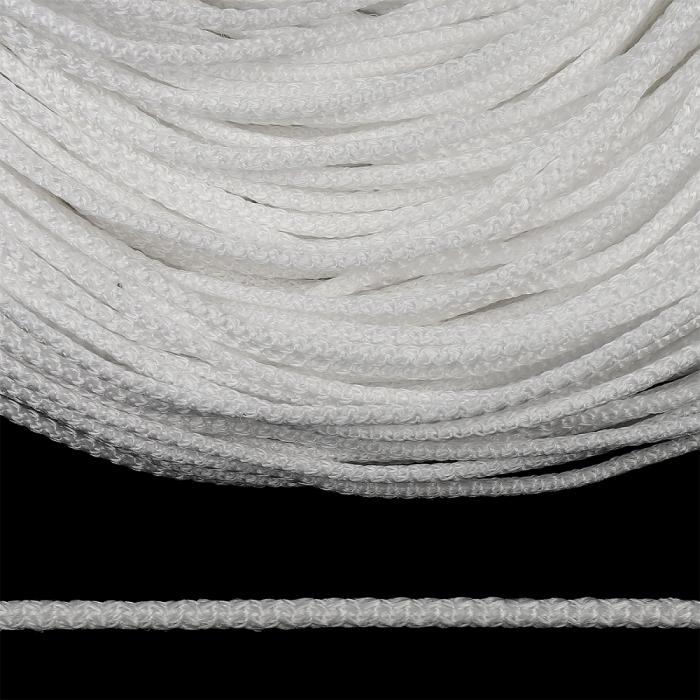 Шнур круглый полипропилен 04мм цв.белый уп.100м