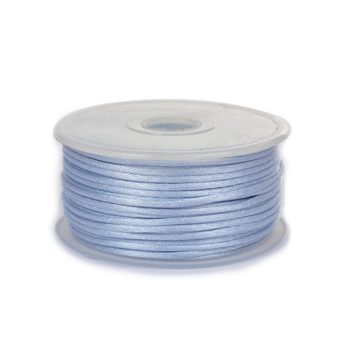 Шнур TBY атласный круглый 2мм цв.4308 голубой уп.50м