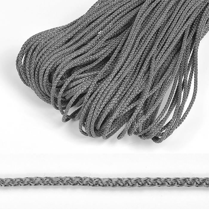 Шнур круглый полипропилен 03мм цв.серый уп.100м
