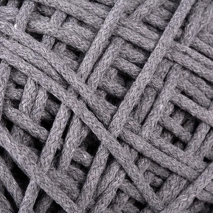 Шнур для макраме круглый х/б 06мм 60184/200 цв.6 серый уп.200м
