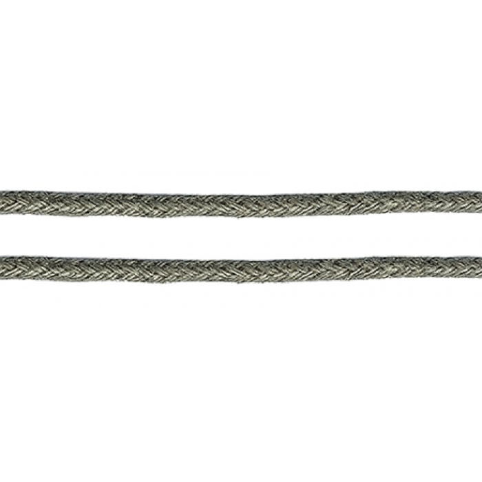 Шнур вощеный 2мм, 100% хлопок цв. 319 т.серый уп.100м