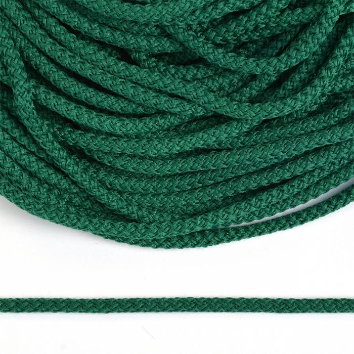 Шнур круглый полиэфир 03мм арт.1с-31 с наполнителем цв.079 т.зеленый уп.200м