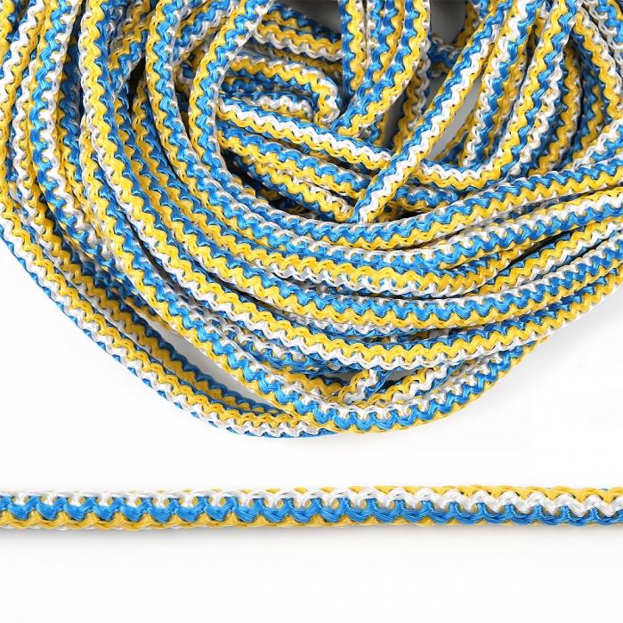 Шнур круглый полипропилен 06мм цв.сине-желто-белый уп.20м