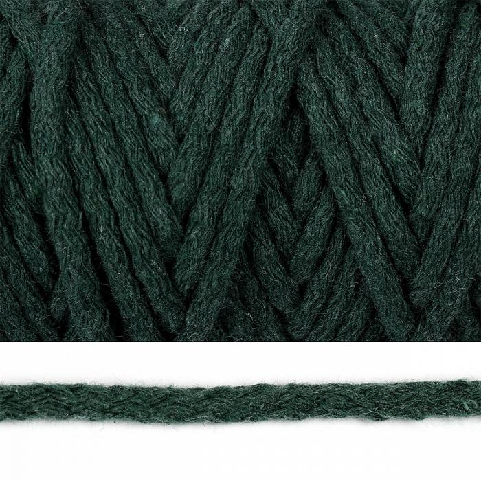 Шнур круглый х/б 05мм цв.2121 т.зеленый уп.50м