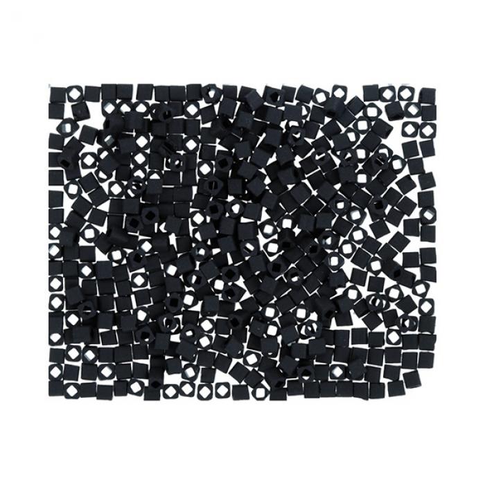 Бисер Япония TOHO CUBE №1 1.5 мм 5 х 5 г №0049F черный/матовый
