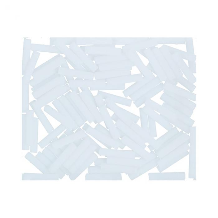 Бисер Япония TOHO BUGLE №3 9 мм 5 х 5 г №0041F белый матовый