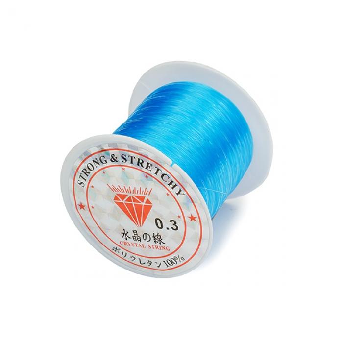 Леска для бисера ?0,3 100м цв.голубой