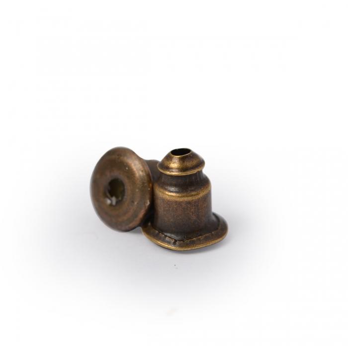 Зажим для сережек MAGIC 4 HOBBY арт.MH.111948-4 цв. бронза 5х4 мм уп.200 шт
