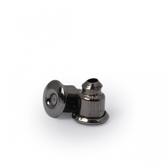 Зажим для сережек MAGIC 4 HOBBY арт.MH.111948-3 цв. черный никель 5х4 мм уп.200 шт